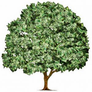 money wealth tree