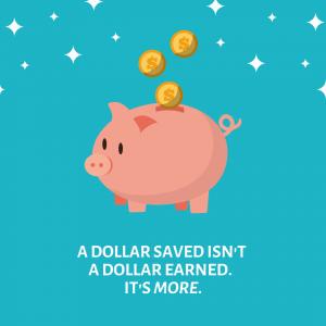 dollar savings save money tax piggy