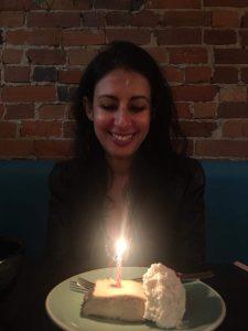 Danielle Alexandria birthday wish cake candle